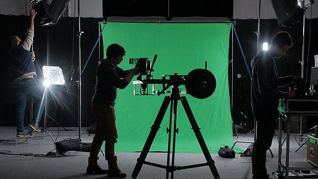 Team & Skills: Greenscreen Dreh mit Kamerakran