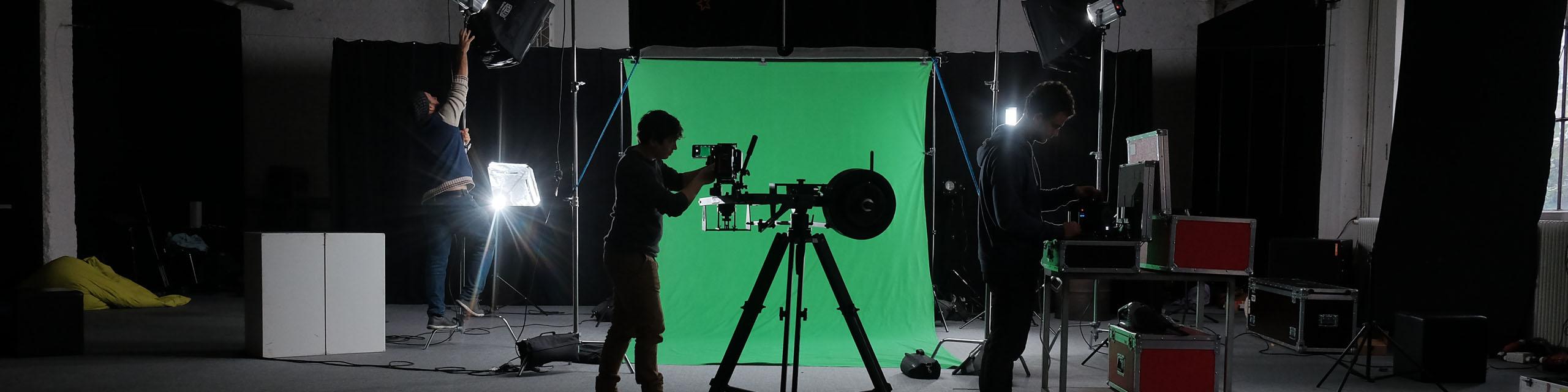 Team & Skills: Greenscreen Dreh mit Kameramann